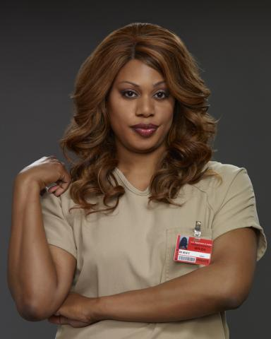 Laverne Cox como Sophia Burset, em Orange Is The Bew Black