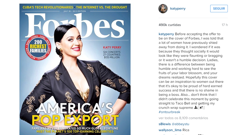 katy perry instagram forbes