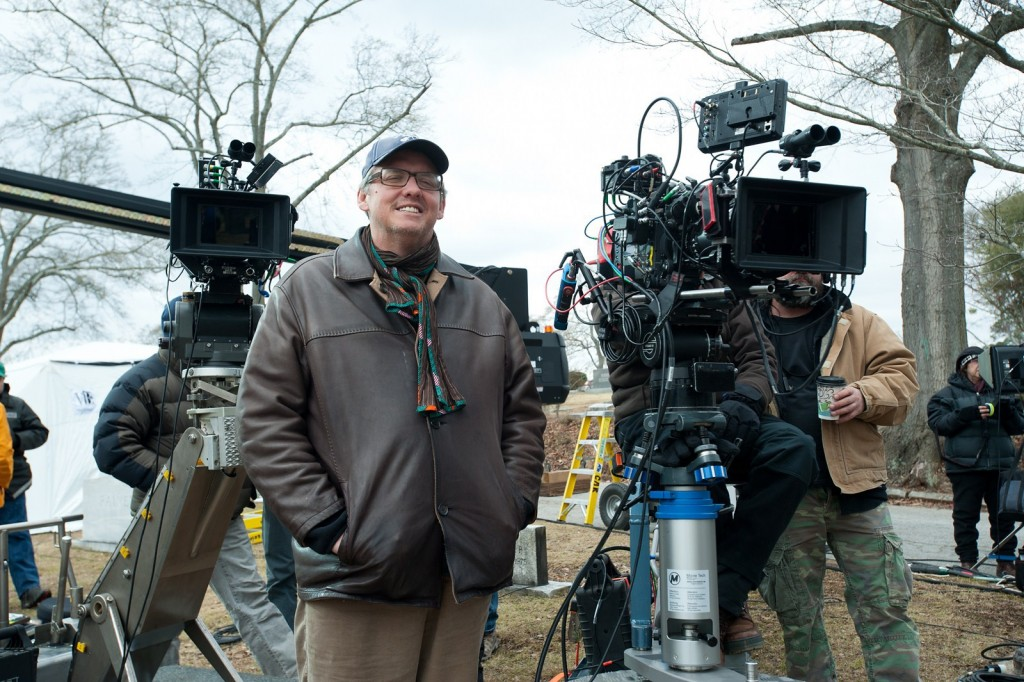 Adam McKay on the set of ANCHORMAN 2: THE LEGEND CONTINUES to be released by Paramount Pictures. A2-05156