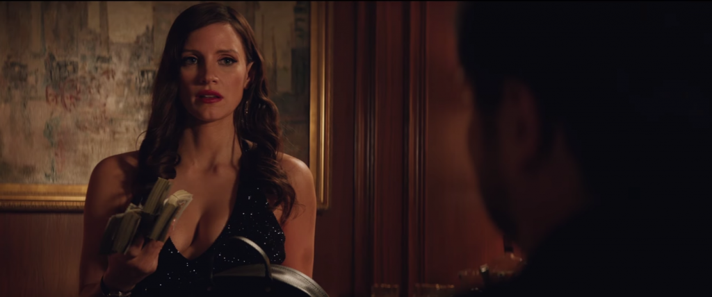 "A Jessica Chastain tá metida com jogatina no trailer de ""Molly's Game"""
